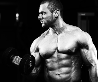 Bodybuilder Weight Exercise